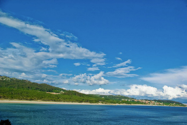 Coastal view of Nerga, Barra and Viño beaches