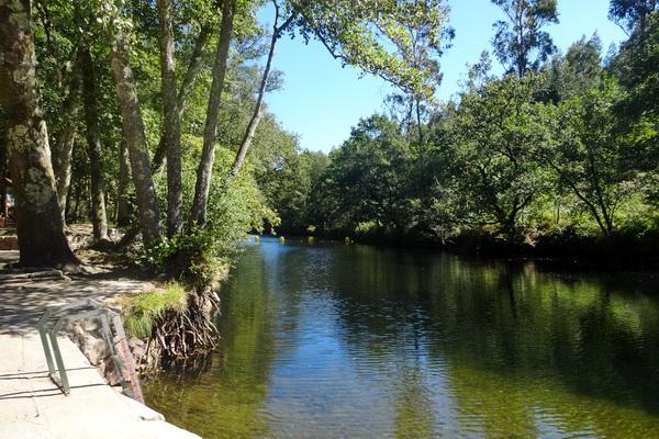 Verdugo River´s fluvial beach in Ponte Caldelas