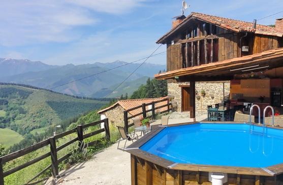 Pool & gazebo, main house behind