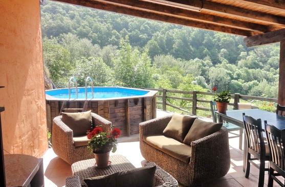 Gazebo (now enclosed with sliding glass) & pool