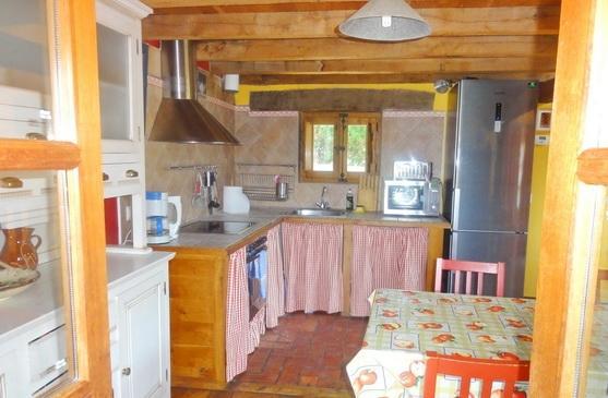 Indoor kitchen from balcony