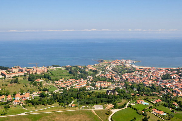 Aerial view of Comillas